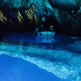 blue cave island vis